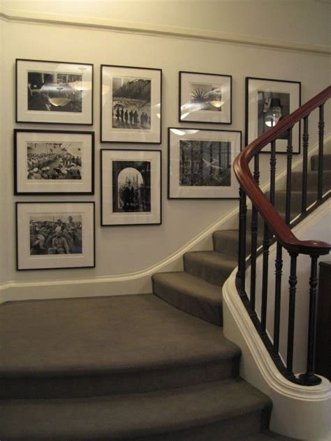stairway gallery wall black  white inspiring rooms pinterest gallery wall