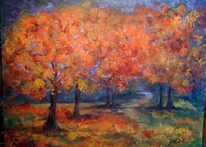 JPD Artworks: Fall Trees - Acrylic