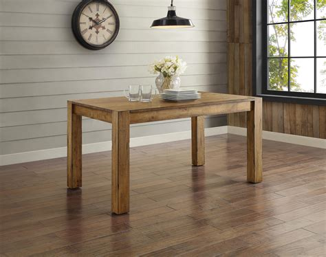 Rustic Dining Table Solid Wood Tabletop For 6 Kitchen