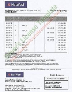 natwest bank statement psd fake documents pinterest With natwest business plan template