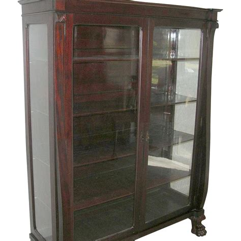 Antique Bookcase Glass Doors by Antique Mahogany Bookcase Glass Panel Doors Claw 1870