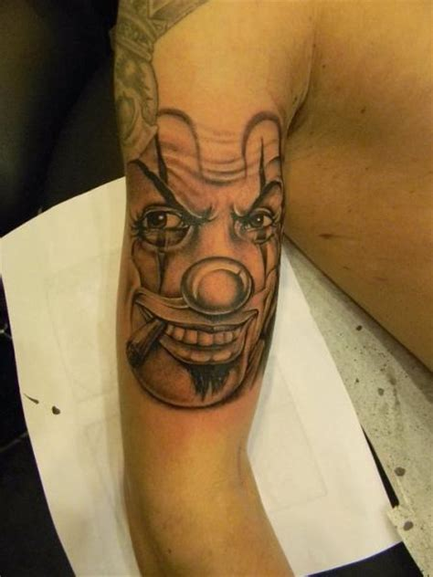 arm fantasy clown tattoo   skin