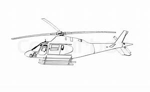 Helicopter sketch | Stock Photo | Colourbox