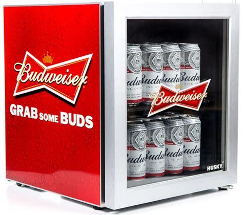 buy husky el budweiser mini fridge red