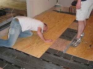 how to level a plywood or osb subfloor using asphalt With how to install laminate flooring over plywood
