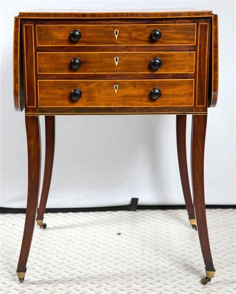 vintage drop leaf side table antique regency mahogany drop leaf side table at 1stdibs