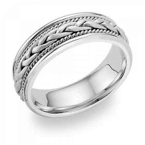 wedding rings woven wedding band ring 14k white gold