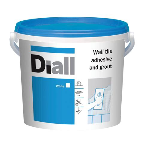 wall tile adhesive diall ready to use wall tile adhesive grout white 6 6kg