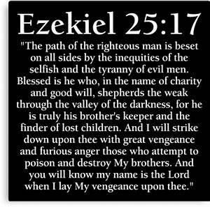 """Ezekiel 25:17 - Full Passage"" Canvas Prints by PKHalford"