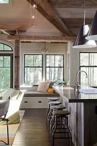 Cozy, Lake, House, Living, Room, Decor, Ideas, 33