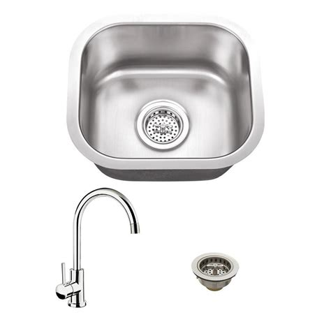 14 stainless steel kitchen sink all in one undermount stainless steel 14 5 in single bowl 8964