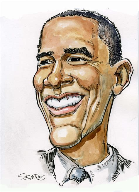 caricature barack obama  senties comedy capers