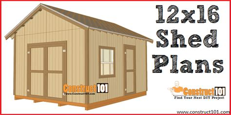 shed designs free 12x16 shed plans gable design construct101