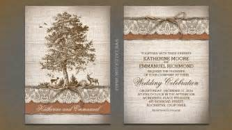 rustic country wedding invitations read more tree burlap lace rustic country wedding invitation wedding invitations by jinaiji