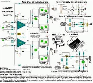 Professional Audio Amplifier Circuit Diagram