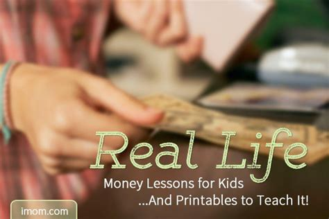 real life money lesson  kids  printables