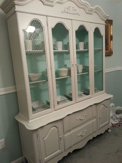 shabby chic china cabinet friend feature china cabinet makeover boring bleak to shabby chic