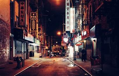 Town China Wallpapers Chinatown Night 15mm Street