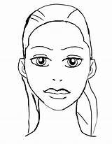Coloring Face Pages Makeup Blank Template Faces Sketch Printable Deviantart Eyes Closed Visage Getcolorings Dessin Coloriage Gypsy sketch template