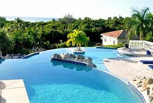 Piscine Avec Cascade : infos sur piscine de luxe avec cascade et toboggan ~ Premium-room.com Idées de Décoration