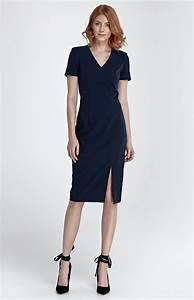 navy blue sheath slit dress nis83bm idresstocode online With robe fluide droite