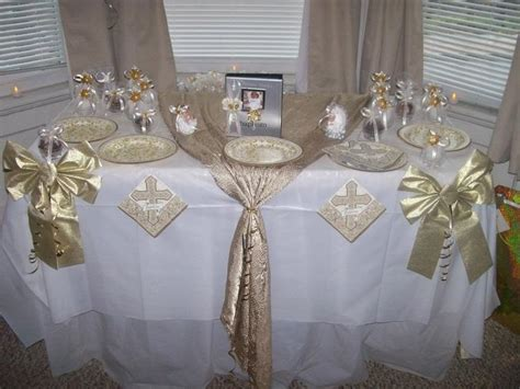 christening table decorations pic 13 baby girl