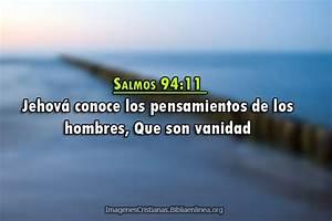 Salmos 94 11 Jehov U00e1 Conoce Los Pensamientos