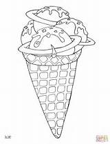 Coloring Ice Cream Pages Desserts Space Printable Drawing Cone Colouring Line Lollipops Needle Paper Getdrawings Mindfulness Categories sketch template