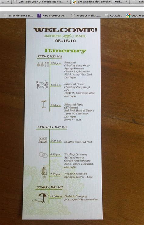 Baby Shower Itinerary Wedding 25 Best Ideas About Destination Wedding Itinerary On