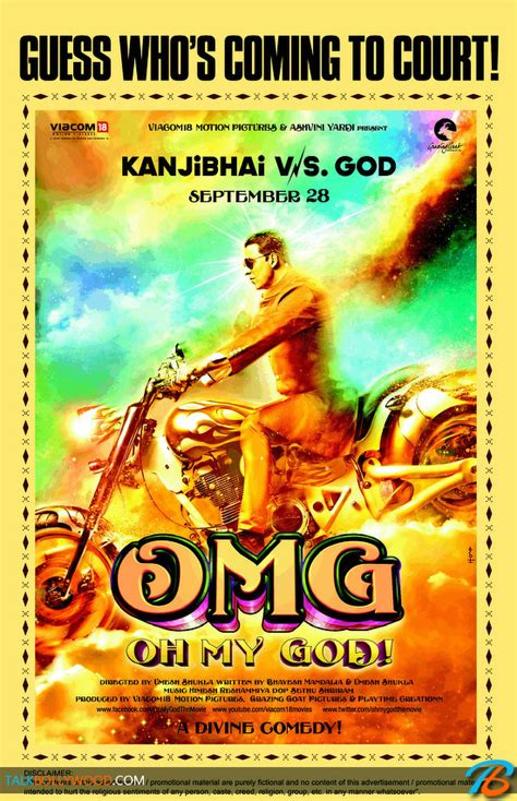 Just because that poster looks incredibly awesome. OMG Oh My God Trailer - Akshay Kumar & Paresh Rawal - Talk Bollywood
