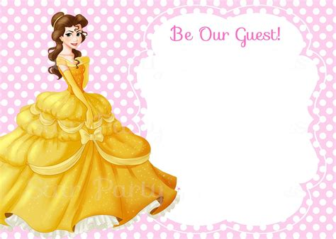 Awesome Free Template Free Printable Belle Beauty And The Beast Invitation Template Bagvania