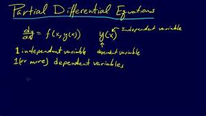 8 1 1-pdes  Ordinary Versus Partial Differential Equations