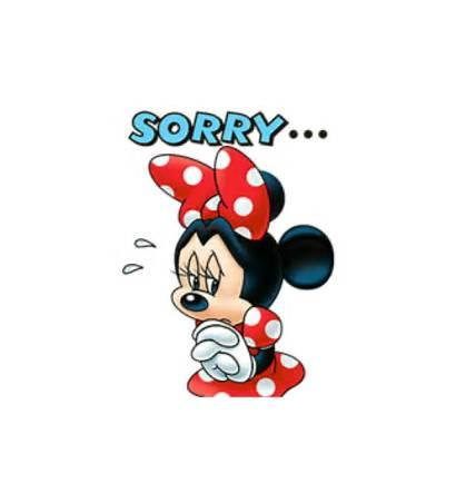 Minnie Mouse Sorry Mickey Disney Cartoon Stickers