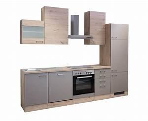 Küchenblock 280 Cm Mit Elektrogeräten : k che riva k chenzeile k chenblock mit elektroger ten 280 cm bronze metallic ~ Bigdaddyawards.com Haus und Dekorationen
