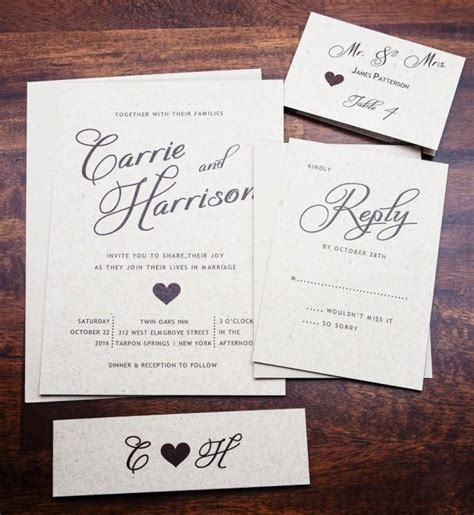 rustic wedding invitation wedding invitations elegant