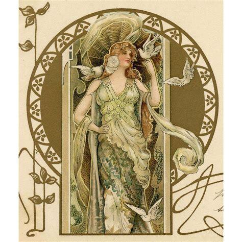 furniture beatrice ne nouveau daniell gold overprint 1904 postcard