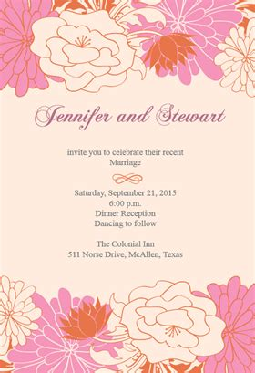 quot mirrored floral borders quot printable invitation template