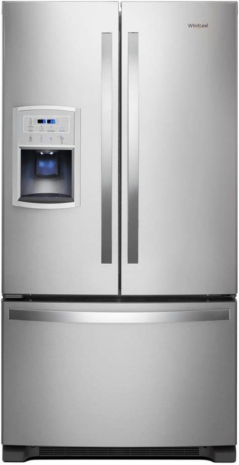 stainless steel door refrigerator whirlpool stainless steel door refrigerator 20 cu