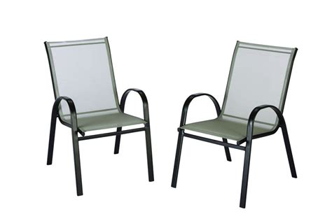 stacking outdoor sling chair unbranded outdoor sling stack chair in grey the home