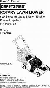 Craftsman 917376722 User Manual Lawn Mower Manuals And