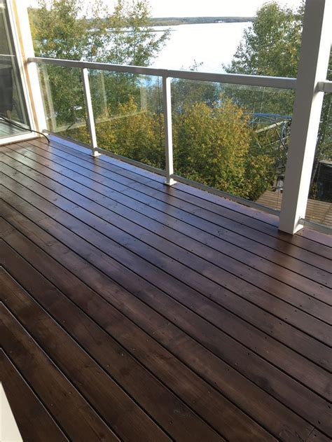 behr padre brown semitransparent stain  coats deck