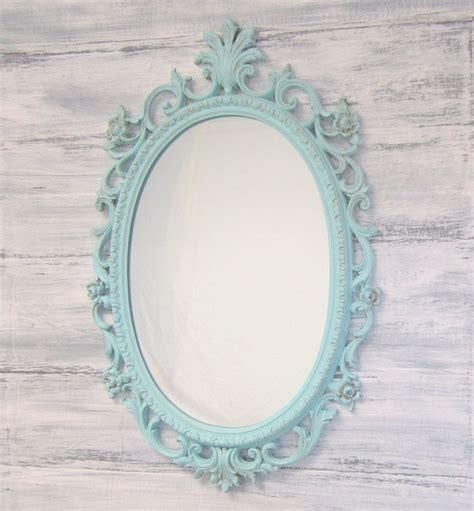 shabby chic blue mirror shabby chic nursery framed vintage mirror distressed teal green mirror baby girl nursery decor