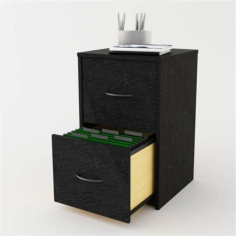 Ameriwood Home Core 2 Drawer File Cabinet Black Ebay