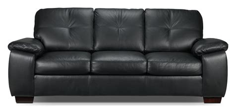 Black Loveseats by Naples Sofa Black S
