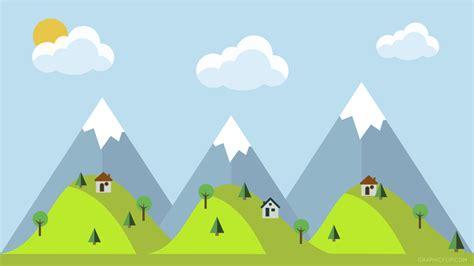 Animated Mountain Wallpaper - free mountain landscape wallpaper in flat design
