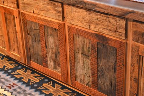 reclaimed wood cabinets for kitchen cabinet with reclaimed oak and pine walnut slab top 7653