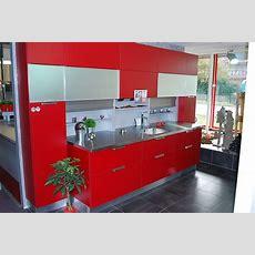 Schmidt Küchenmusterküche Moderne Rote Küche Mit