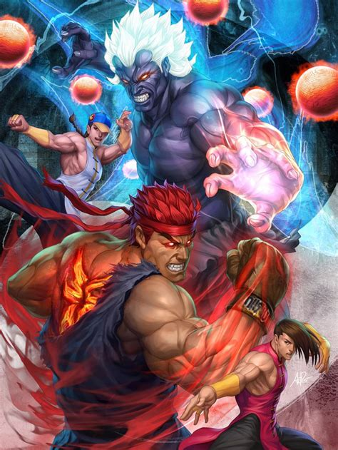 Oni Akuma And Evil Ryu Street Fighter By Stanley Lau