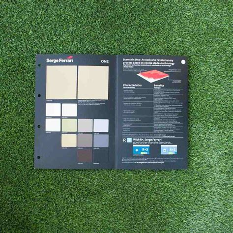 French industrial group and industry leader for flexible composite materials since soltis® textiles allow experts in sun screening to meet the most widely varying and demanding. Serge Ferrari Stamskin One Fabric Sample Card - Fabric Swatches - Outdoor Textiles