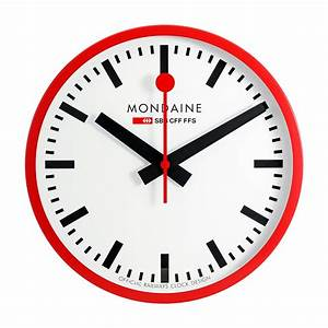 Mondaine wall clock replica for Mondaine wall clock replica